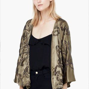 Mango Kadın Haki Kimono